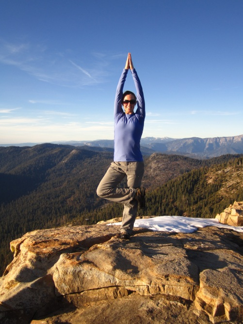 Tree pose in Sequoia.