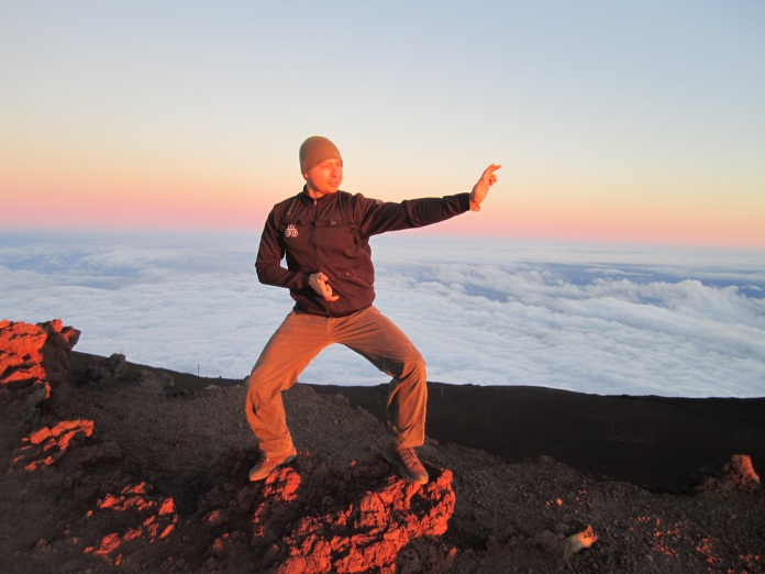 J's pose on Haleakala